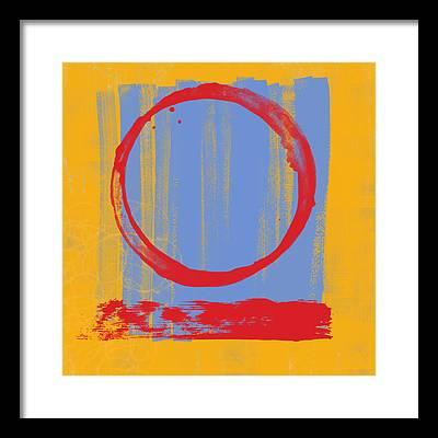 Enso Paintings - Framed Art Prints