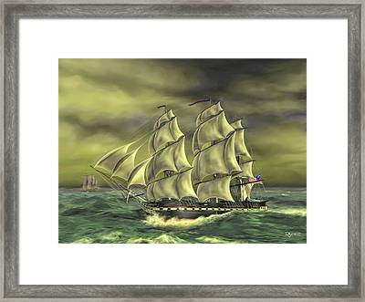 Framed Print featuring the painting Ensuring Liberty by Dave Luebbert
