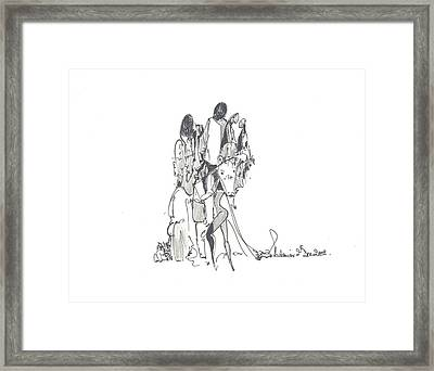 Entangled Forms Framed Print by Padamvir Singh