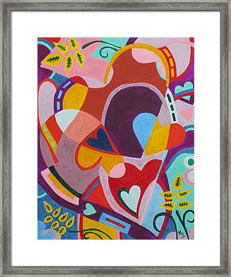 Entangled Hearts Framed Print by Molly Williams