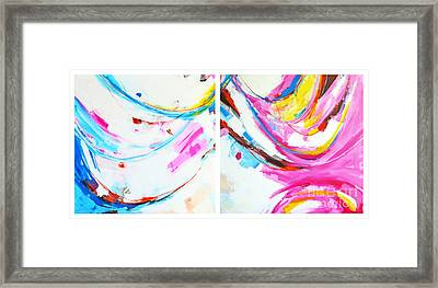 Entangled No. 8 - Diptych - Abstract Painting Framed Print