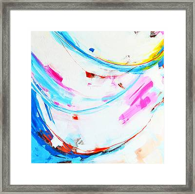 Entangled No. 8 - Left Side - Abstract Painting Framed Print