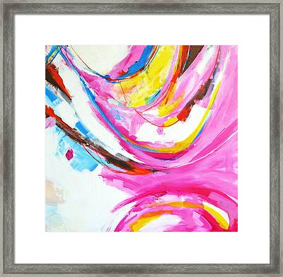 Entangled No. 8 - Right Side - Abstract Painting Framed Print