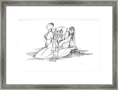 Entangled Women Framed Print by Padamvir Singh