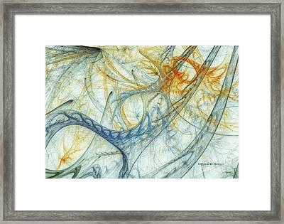 Entanglement Framed Print by Deborah Benoit