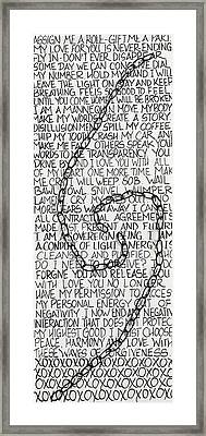 Entanglement Framed Print by Jessica Leigh