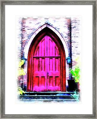 Enter All Ye Faithful Framed Print