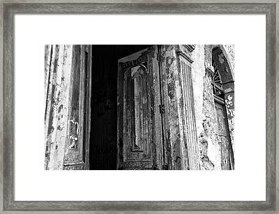 Enter At Your Own Risk Mono Framed Print by John Rizzuto