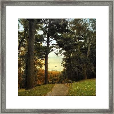 Enter Autumn Framed Print by Jessica Jenney
