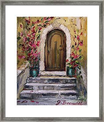 Framed Print featuring the painting Enter Here by Jennifer Beaudet
