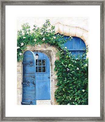 Enter My Garden Framed Print by Denise H Cooperman
