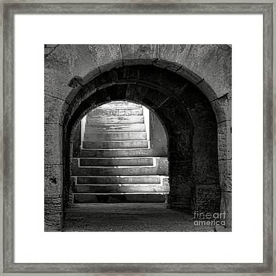 Framed Print featuring the photograph Enter The Arena by Olivier Le Queinec