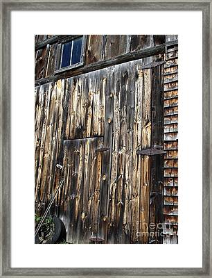 Enter The Barn Framed Print