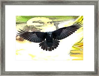 Enter The Raven Framed Print by Tbone Oliver
