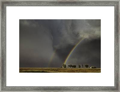 Enter The Storm Framed Print