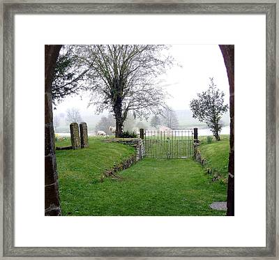 Enter Through The Gates With Singing Framed Print