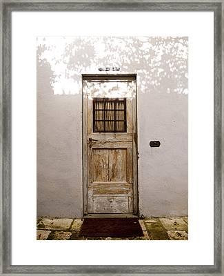 Enter Through The Shadows Framed Print by Rae Tucker