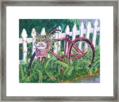 Enter With A Happy Heart Framed Print by Ruth Mabee