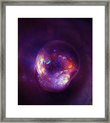 Entering A Wormhole  Framed Print