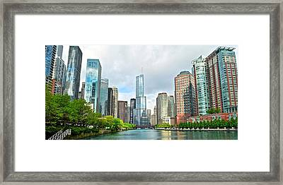 Entering Chicago Framed Print by Frozen in Time Fine Art Photography