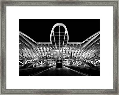 Entering Framed Print by Jeroen Van De Wiel