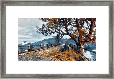 Entering Red Creek Valley Framed Print