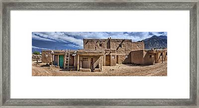 Entering Taos Framed Print