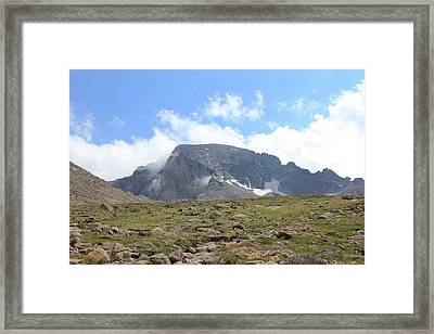 Entering The Boulder Field Framed Print
