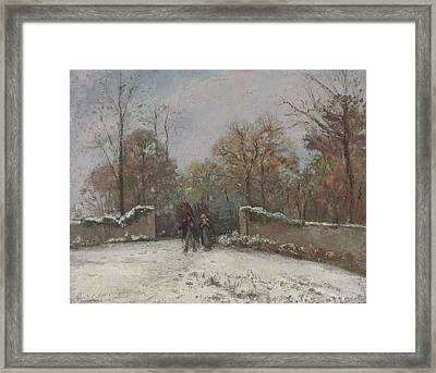 Entering The Forest Of Marly Framed Print by Camille Pissarro