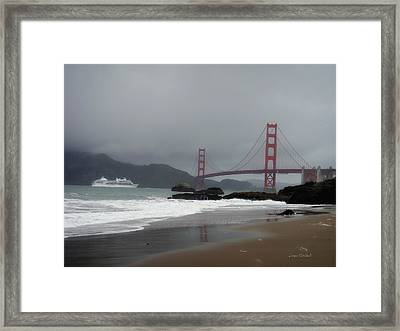 Entering The Golden Gate Framed Print