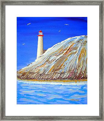 Entering The Harbor Framed Print by J R Seymour