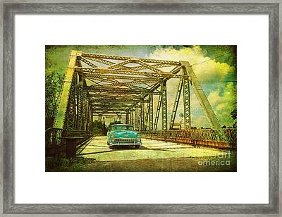 Entering The Past Framed Print
