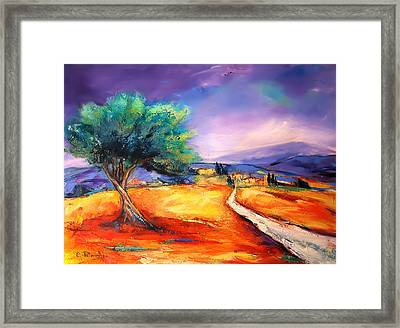 Entering The Village Framed Print