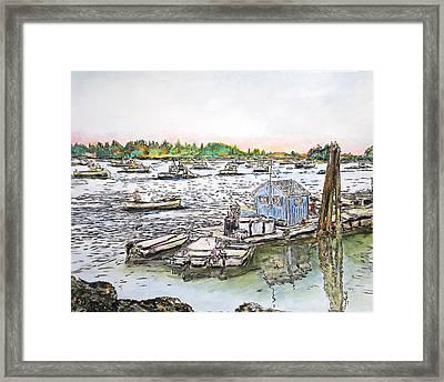 Entering Vinal Haven, Maine Framed Print