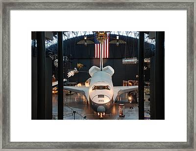 Enterprise Space Shuttle Framed Print by Renee Holder