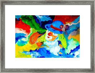 Entertainer Framed Print by Piety Dsilva