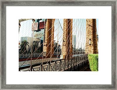 Entertainment City Bridge Framed Print by Jonathan Michael Bowman