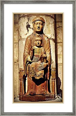 Enthroned Virgin And Child Framed Print by Sarah Loft