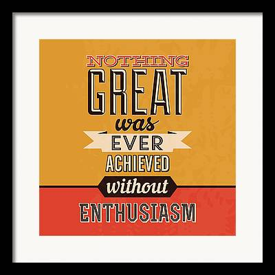 Enthusiasm Digital Art Framed Prints