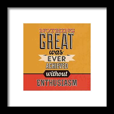 Enthusiasm Framed Prints