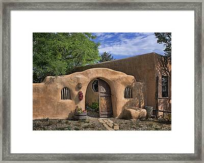 Entrance - Adobe Home Framed Print by Nikolyn McDonald