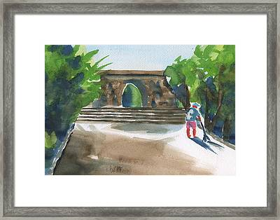 Entrance At Chankanaab Framed Print by Frank Bright