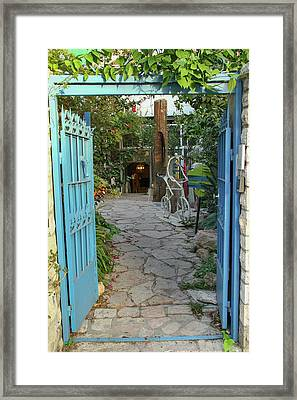 Framed Print featuring the photograph Entrance Door To The Artist by Yoel Koskas