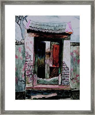Entrance Gate Framed Print by Merton Allen