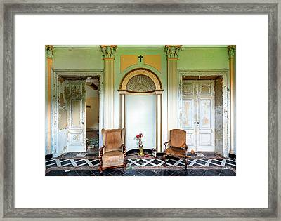 Entrance Hall With Memories - Abandoned Building Framed Print by Dirk Ercken