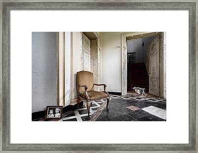 Entrance Hall With Old Memories - Abandoned Building Framed Print