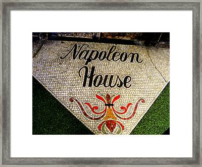 Entrance Mosaic Napoleon House Framed Print by Ted Hebbler