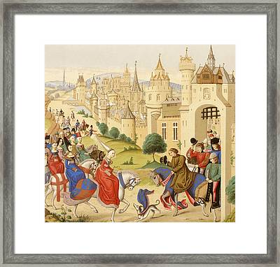 Entrance Of Queen Isabeau Of Bavaria Framed Print