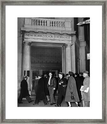 Entrance Of The New York Stock Framed Print by Everett
