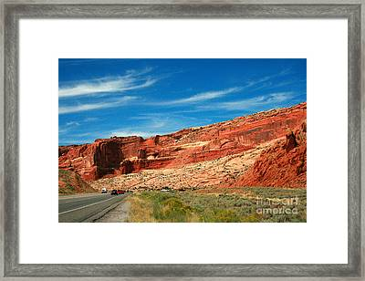 Entrance To Arches National Park Framed Print